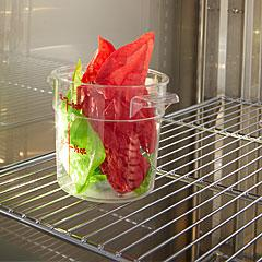 One chrome plated wire shelf per door opening