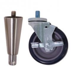 "Adjustable 6"" heavy-duty legs or 6"" casters in lieu of legs"